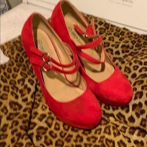 Ruby Red high heels